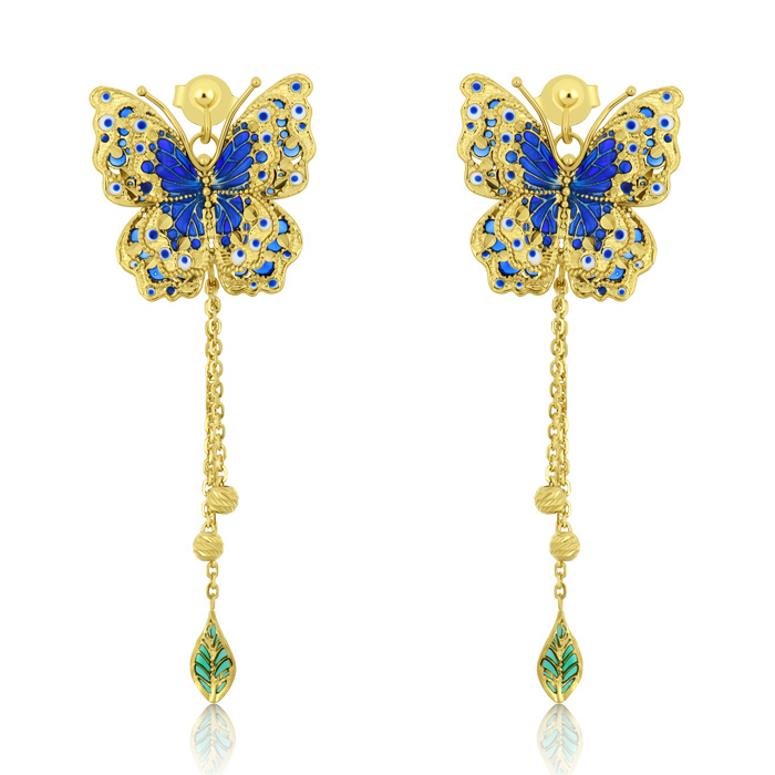 Gold Earrings Oceac06138 Bijuteria Stil