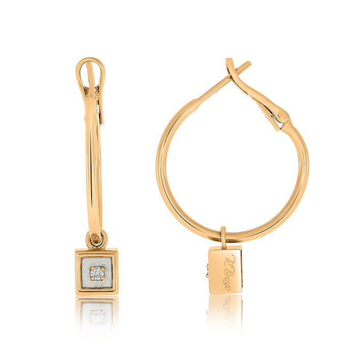Gold Earrings With Diamonds Cedrb7209 Roberto Bravo