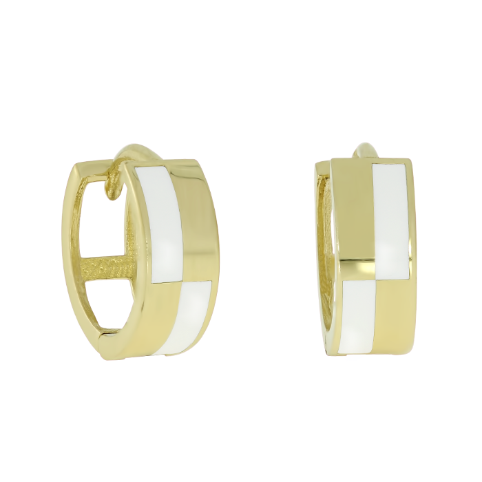 Gold Earrings Cekqmega Bijuteria Stil