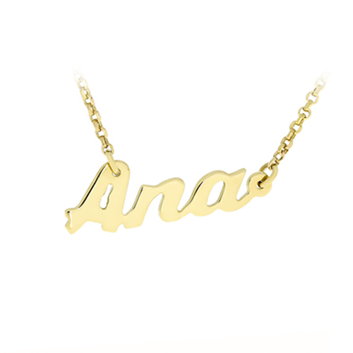 Gold Chain Name Ana Bijuteria Stil