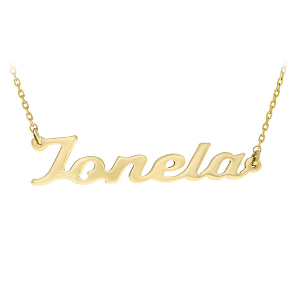 Gold Chain Name Ionela Bijuteria Stil