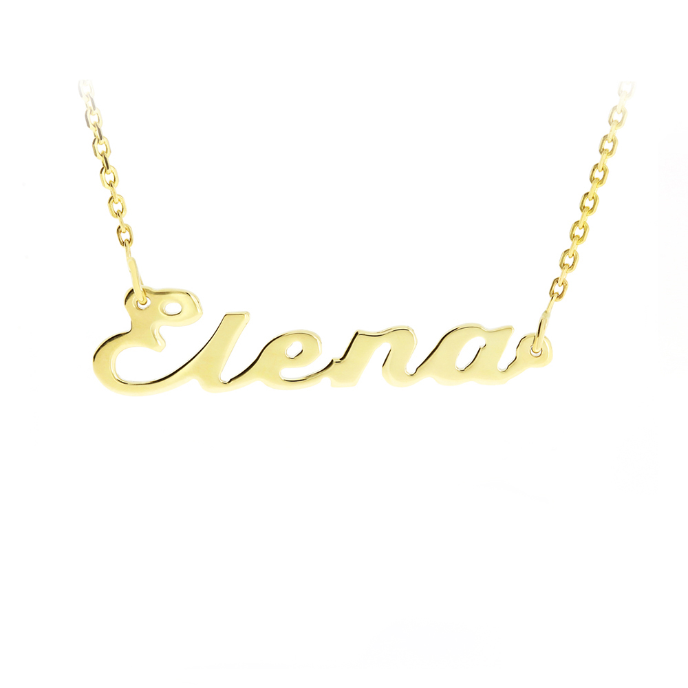 Gold Chain Name Elena Bijuteria Stil