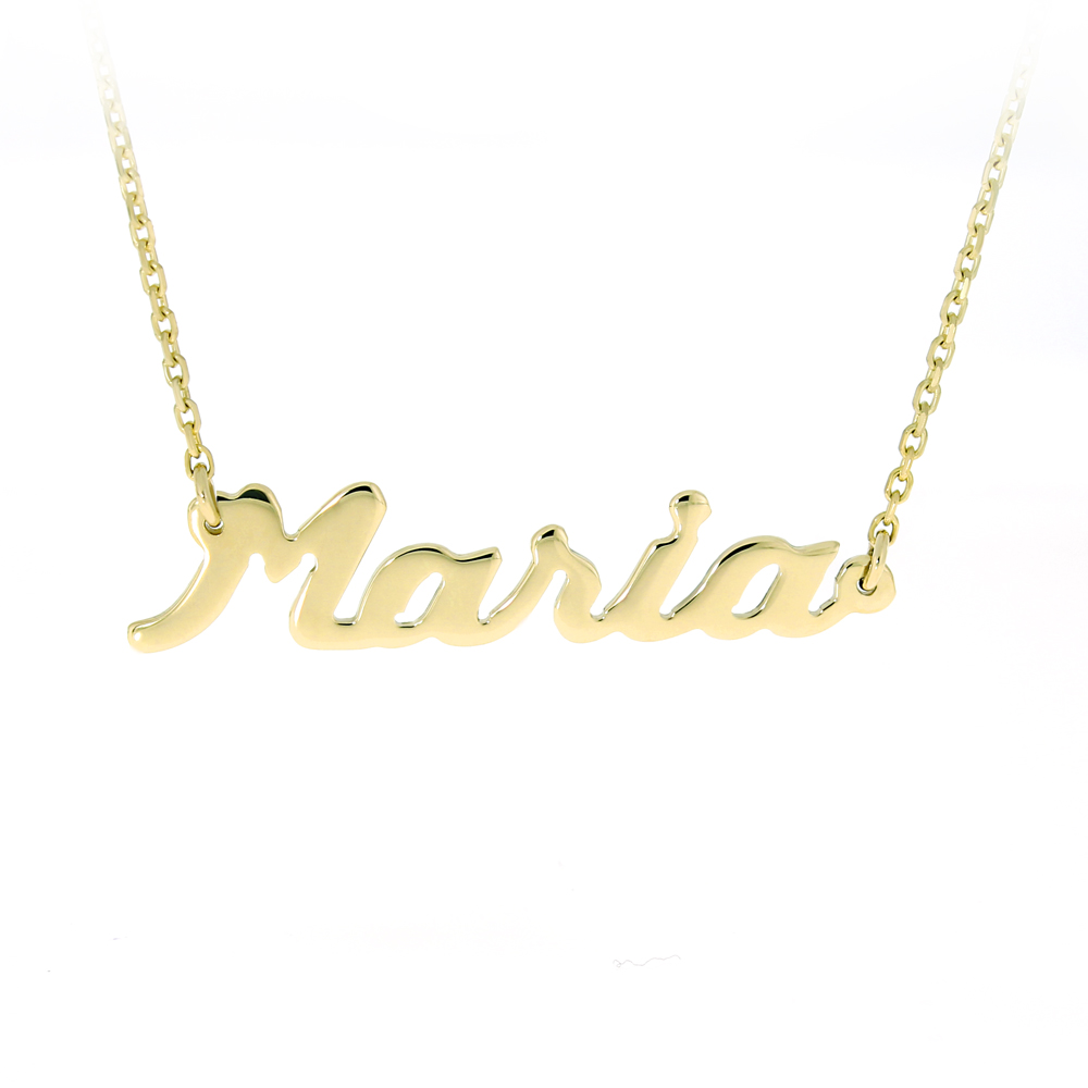 Gold Chain Name Maria Bijuteria Stil