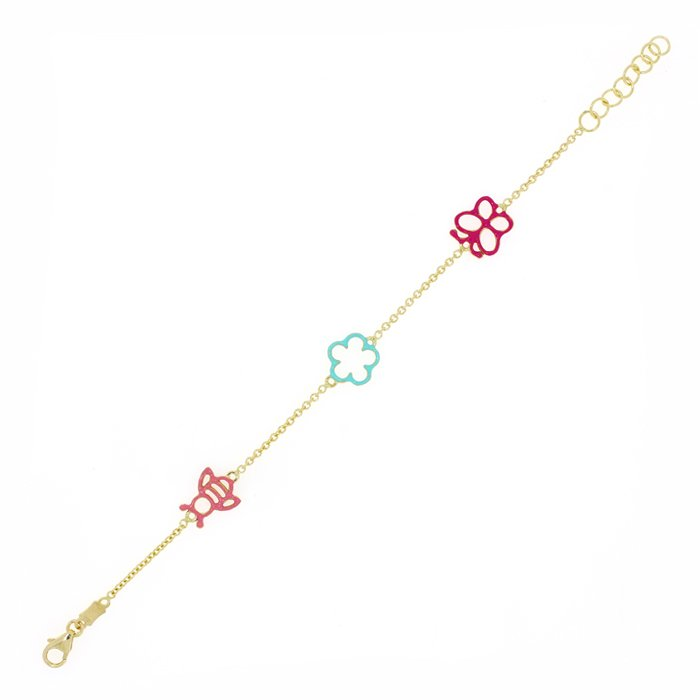 Gold Bracelet For Kids Brfg0047 Bijuteria Stil