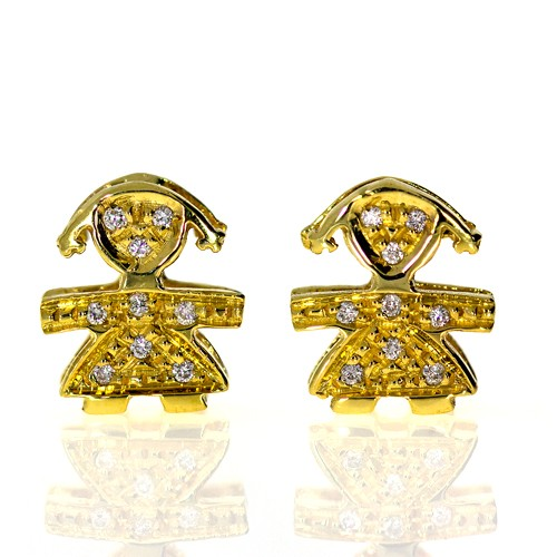 Earrings With Diamonds Cedsg5639 Bijuteria Stil