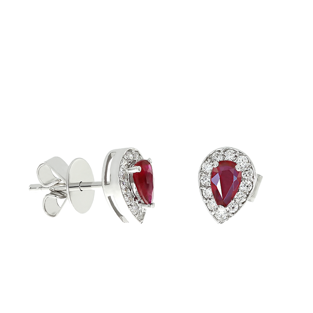 Diamond And Ruby Earrings Cedrk0011 Bijuteria Stil
