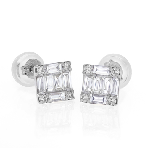 Diamond Earrings Cedun0012 Bijuteria Stil
