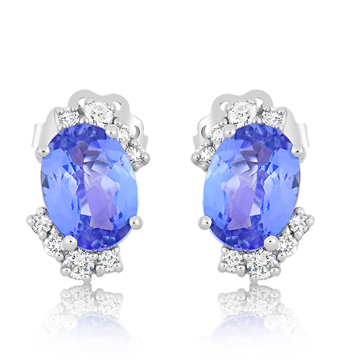 Diamond And Tanzanite Earrings Oceddi05973 Bijuteria Stil