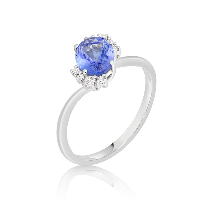 Diamond And Tanzanite Ring Oinddi04461 Bijuteria Stil
