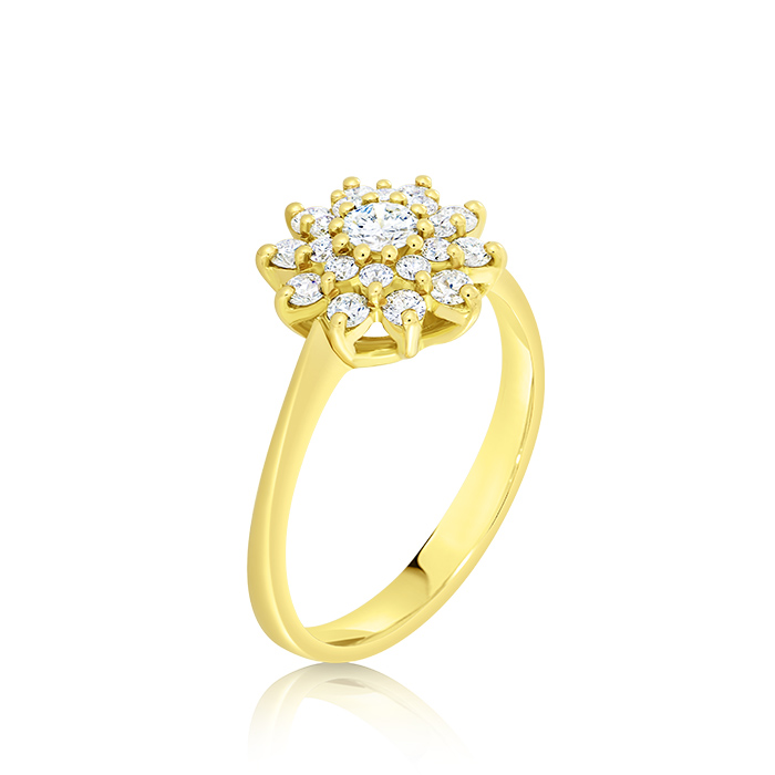 Diamond Ring Oinddi04465 Bijuteria Stil