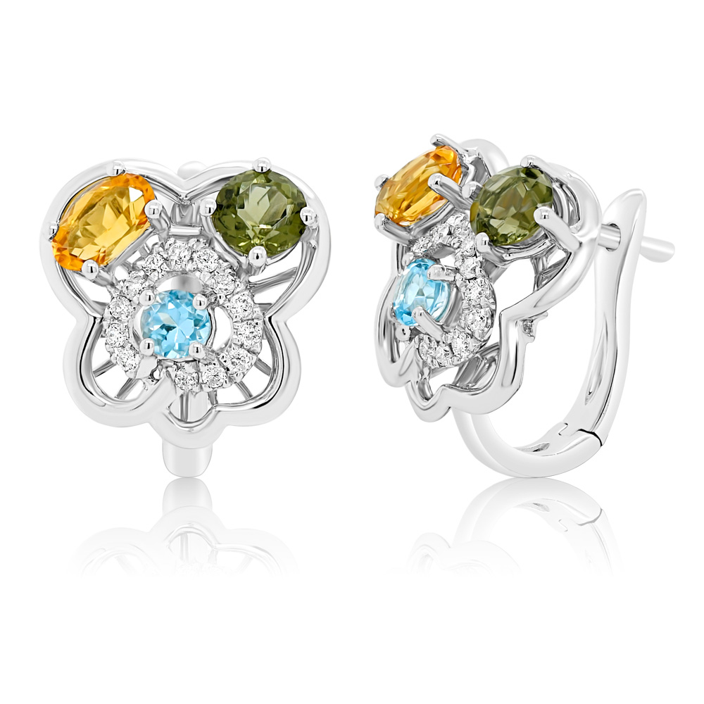 Diamond Earrings Ocedfp08922 Bijuteria Stil