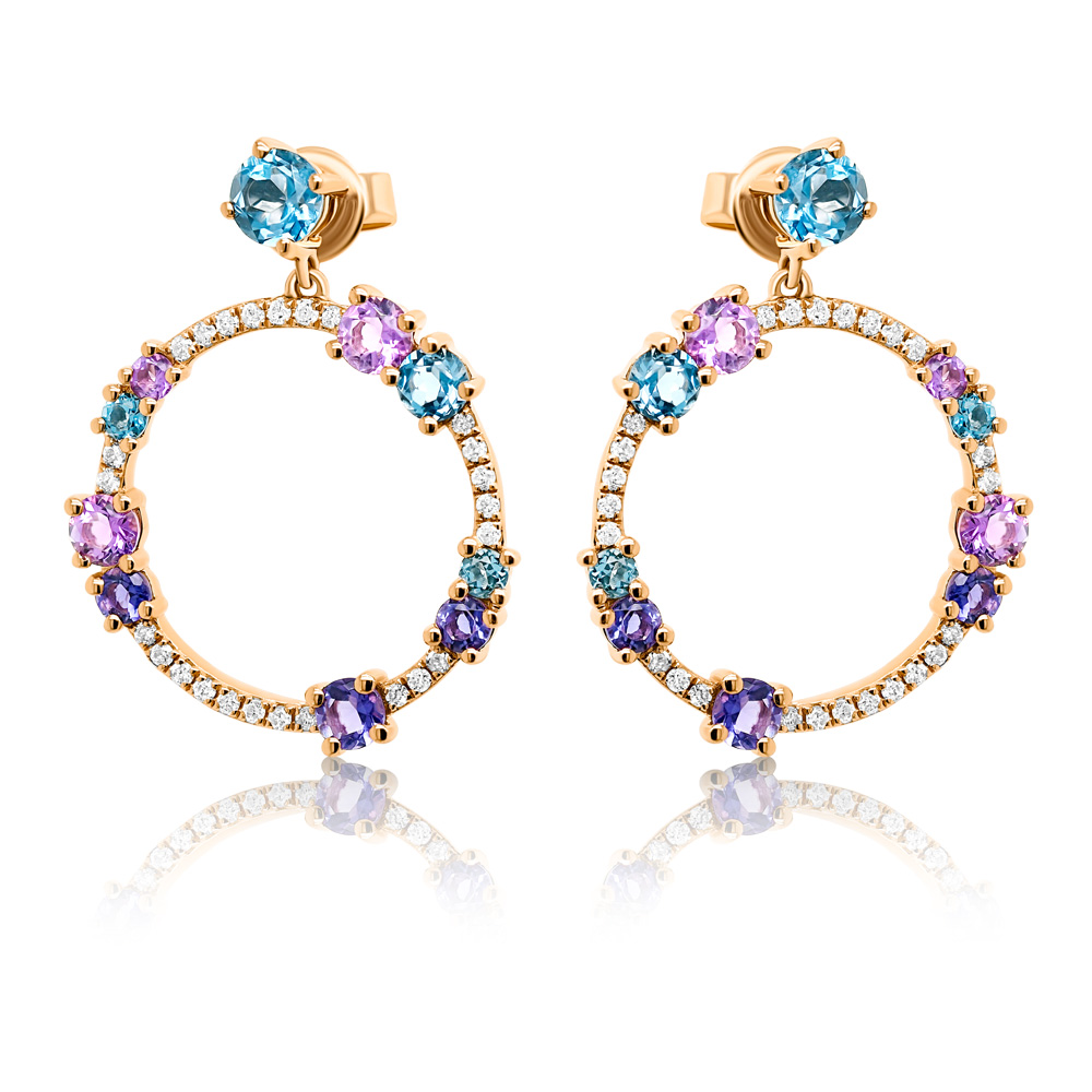 Diamond Earrings Ocedfp08925 Bijuteria Stil