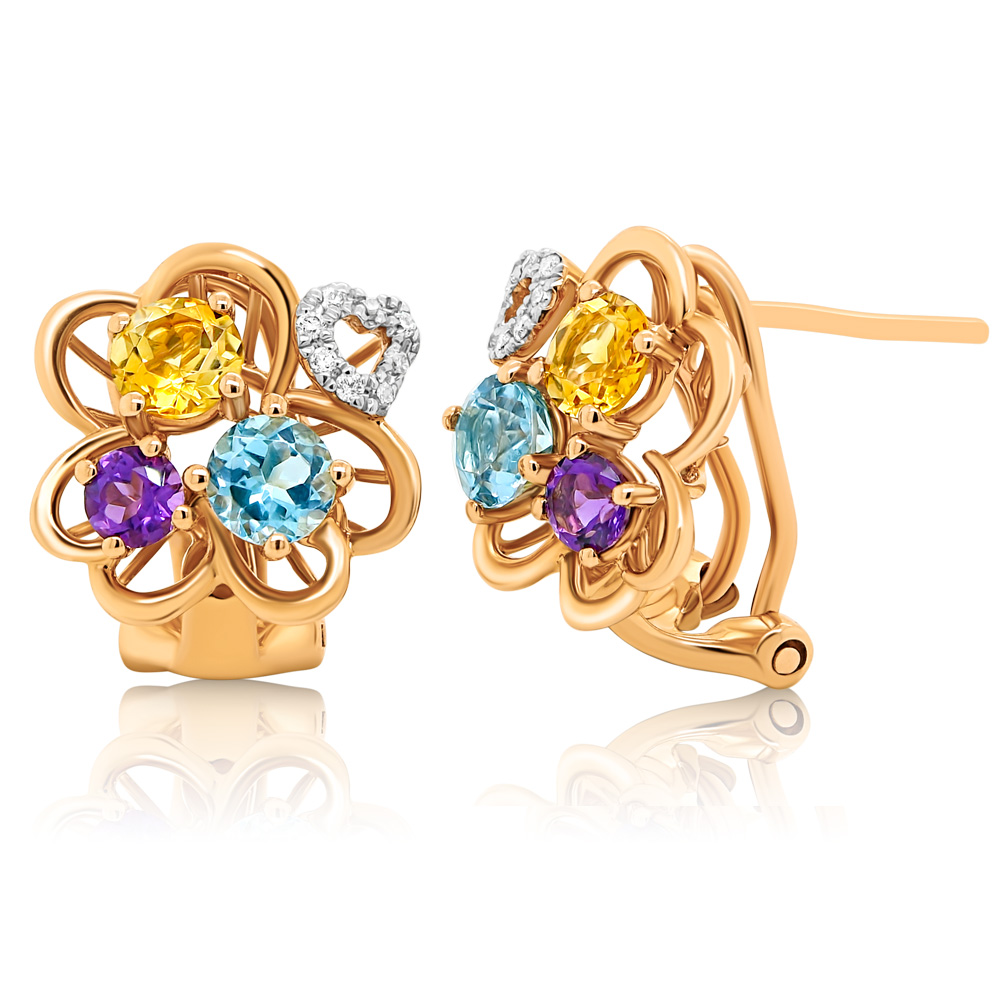 Diamond Earrings Ocedfp08977 Bijuteria Stil