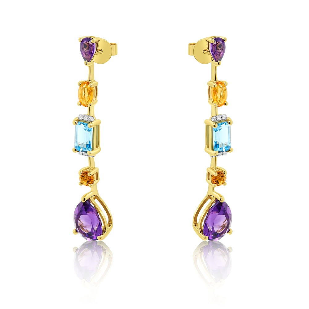 Diamond Earrings Ocedfp08978 Bijuteria Stil