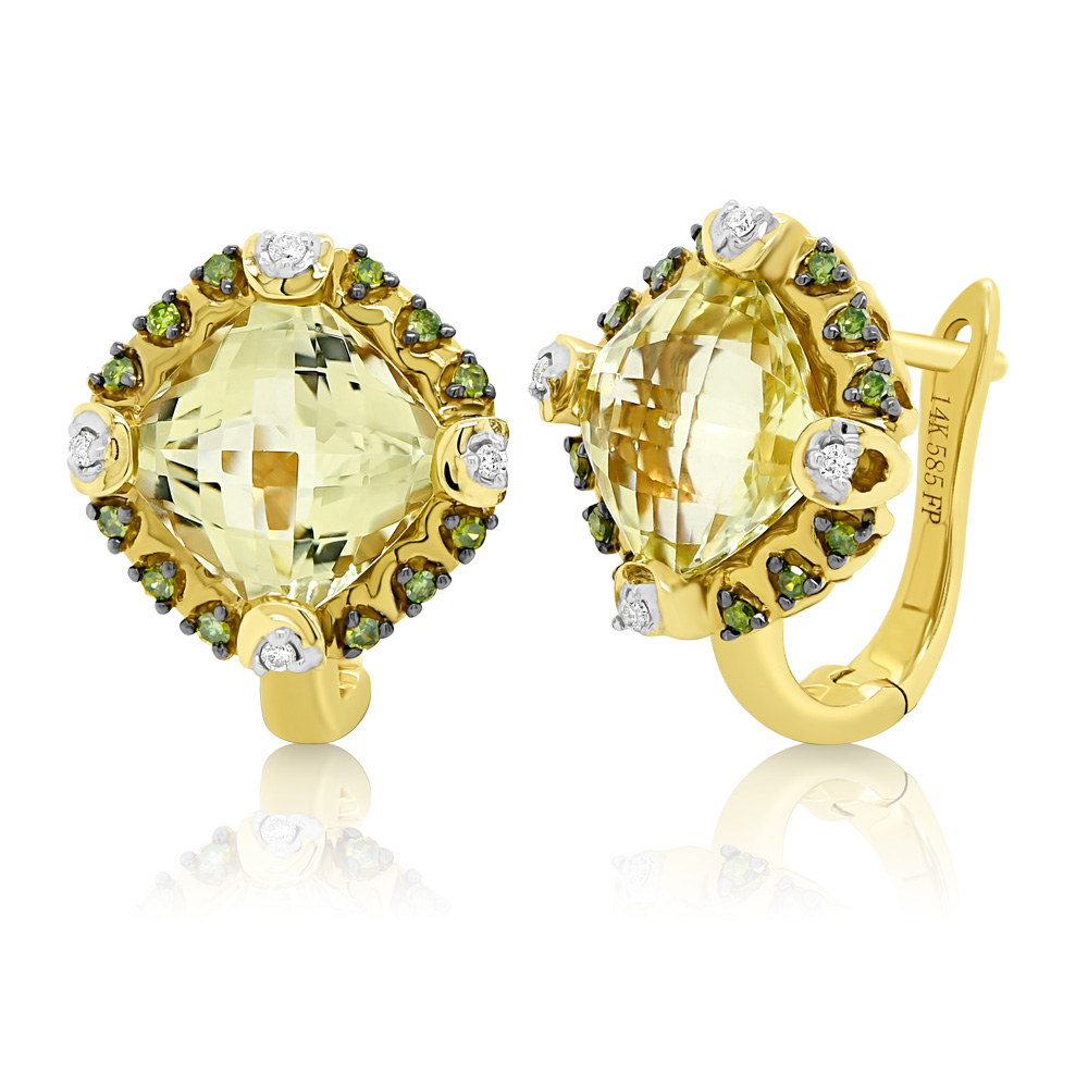 Diamond Earrings Ocedfp08979 Bijuteria Stil