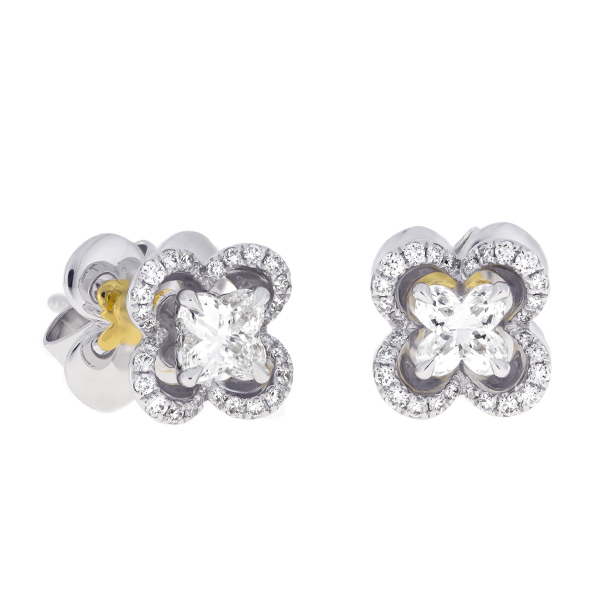 Gold Earrings With Gia Diamonds Cedlj0002 Bijuteria Stil