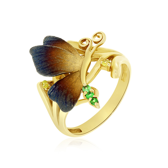 Gold Ring With Sapphires Indrb7210 Roberto Bravo