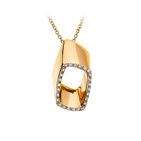 Gold Necklace With Diamonds Lpdko0002 K Di Kuore