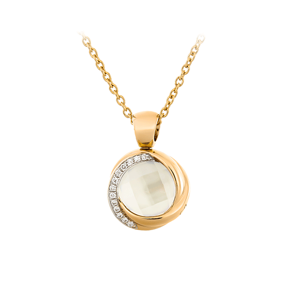 Gold Necklace With Diamonds Lpdko0003 K Di Kuore