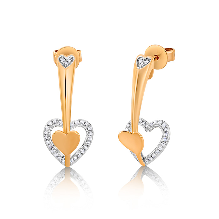 Diamond Earrings Ocedpj05413 Bijuteria Stil
