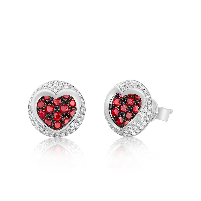 Diamond And Ruby Earrings Ocedpj05415 Bijuteria Stil