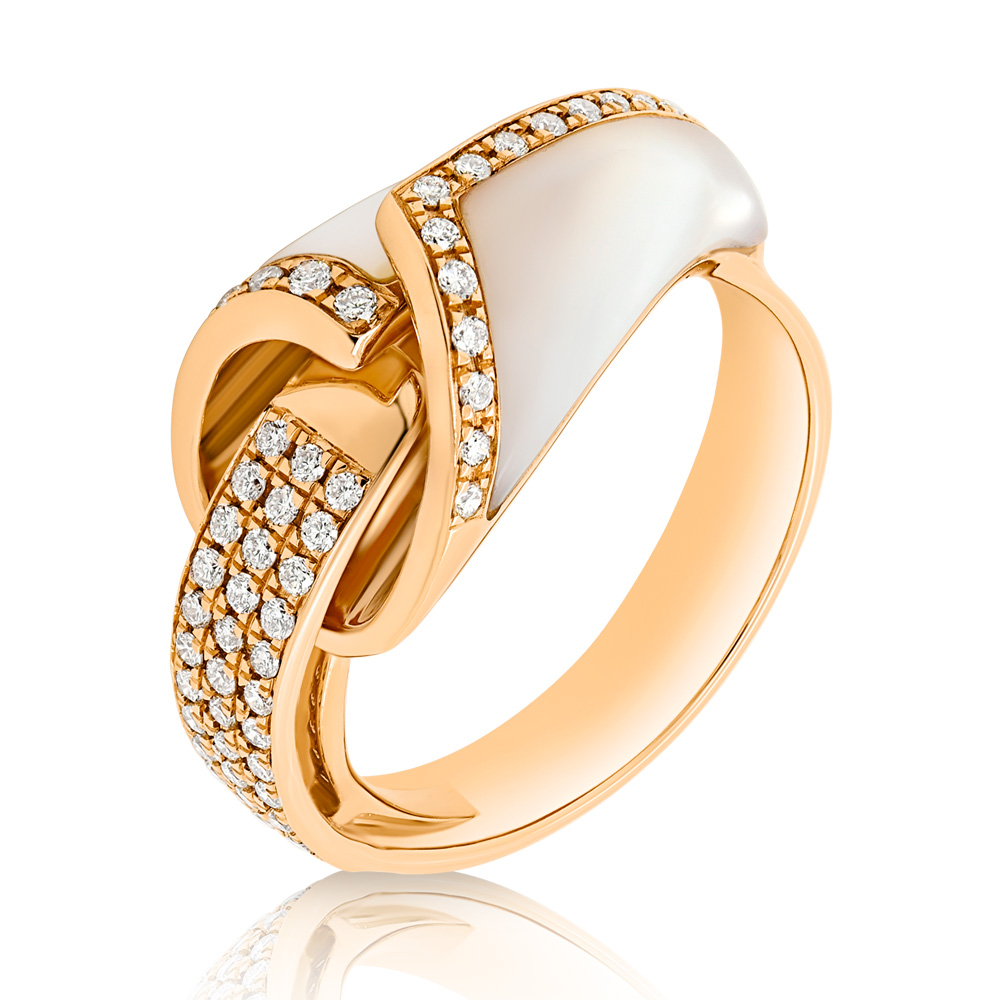Diamond And Mother Of Pearl Ring Oindpr05369 Bijuteria Stil