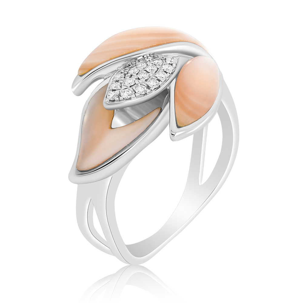 Diamond And Mother Of Pearl Ring Oindpr05420 Bijuteria Stil