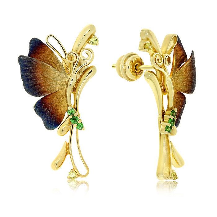 Gold Earrings With Sapphires Cedrb7214 Roberto Bravo