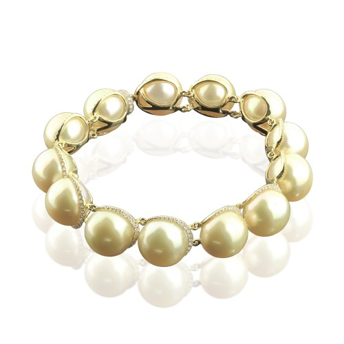 Diamond And Pearl Bracelet Brdrh5360 Bijuteria Stil