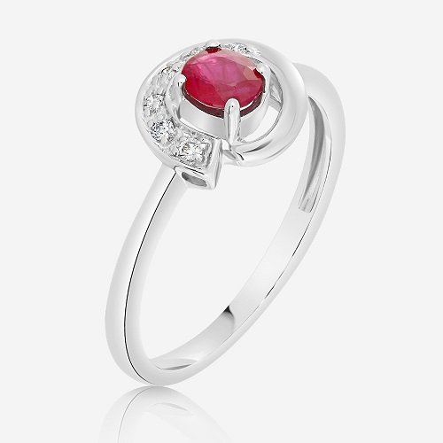 Diamond And Ruby Ring Indkwa598 Bijuteria Stil