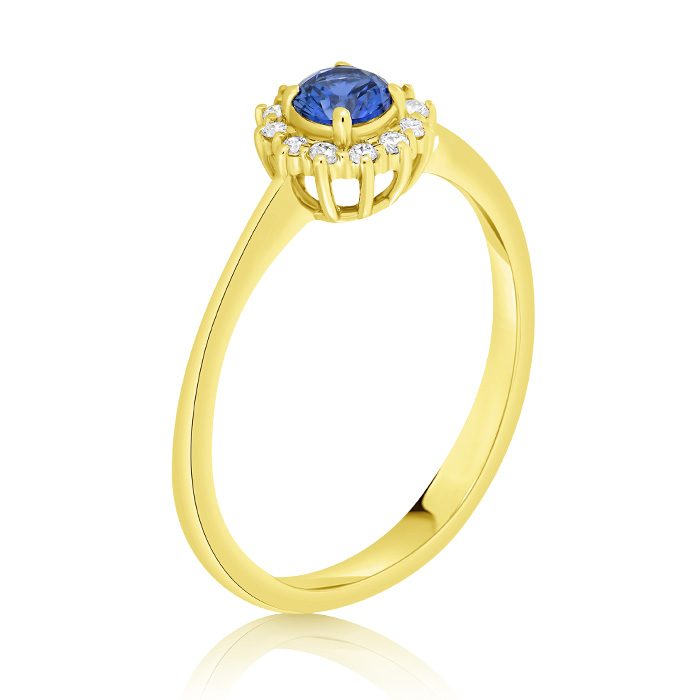 Diamond And Saphhire Engagement Ring Inv019d Bijuteria Stil