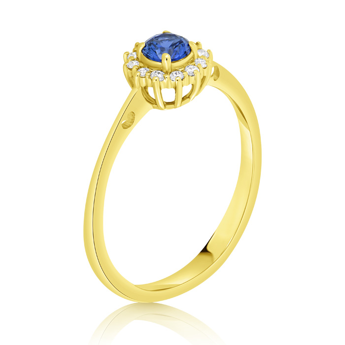 Diamond And Saphhire Engagement Ring Inv020d Bijuteria Stil