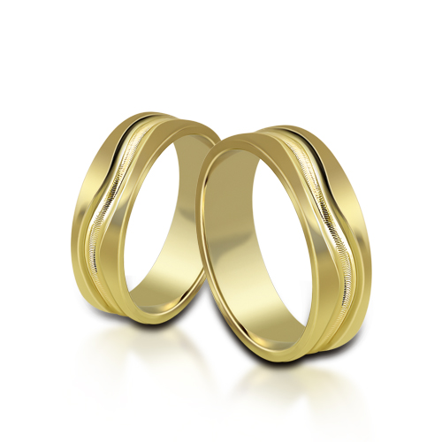 Wedding Ring Gold Atractivo 524