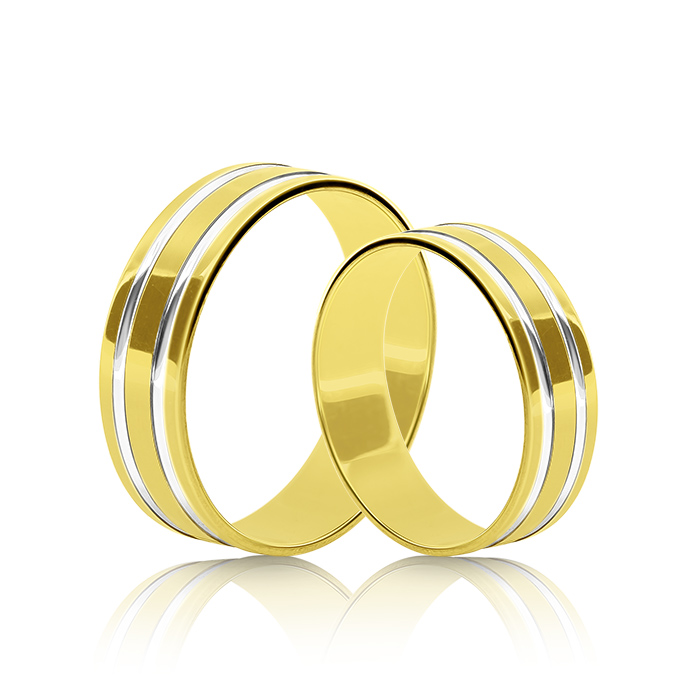 Wedding Ring Gold Atractivo 513