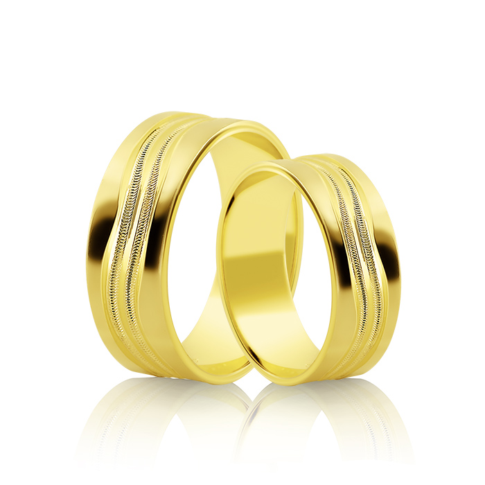 Wedding Ring Gold Atractivo 516
