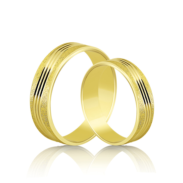 Wedding Ring Gold Atractivo 518