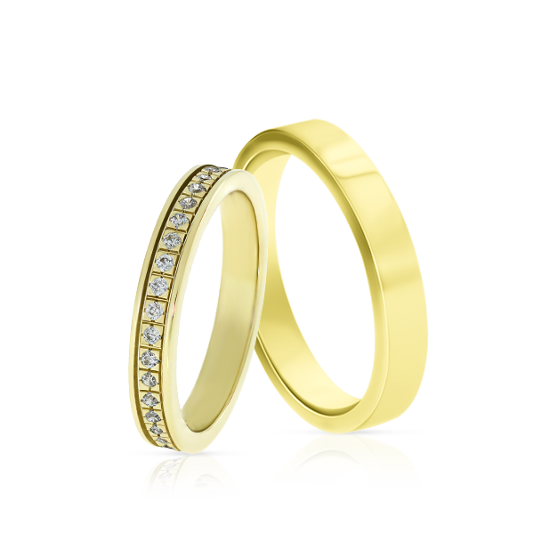 Wedding Ring Gold Elegante 610