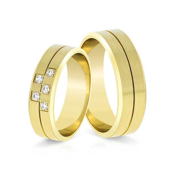 Wedding Ring Gold Elegante 617a