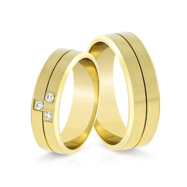 Wedding Ring Gold Elegante 617b