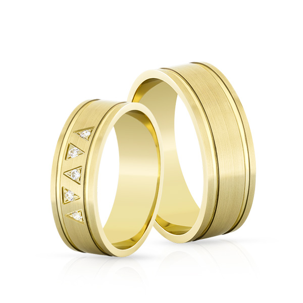 Wedding Ring Gold Elegante 618