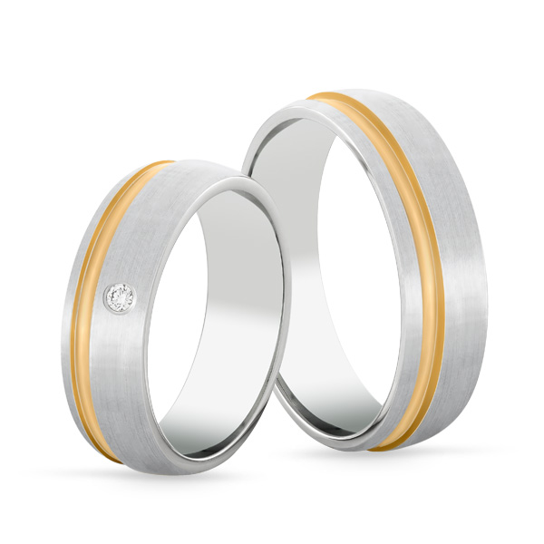 Wedding Ring Gold Euforia 108