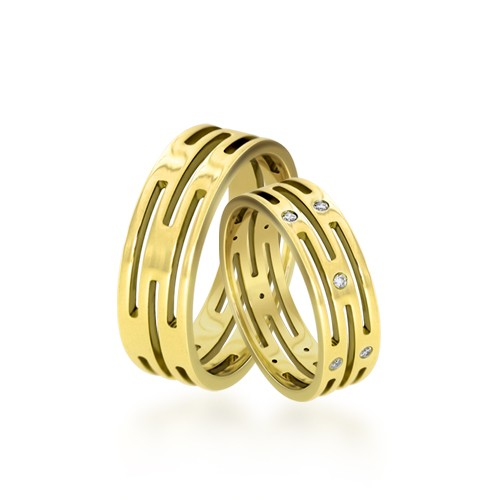 Wedding Ring Gold Elegante 604