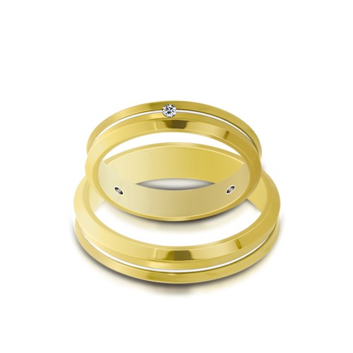 Wedding Ring Gold Euforia 103
