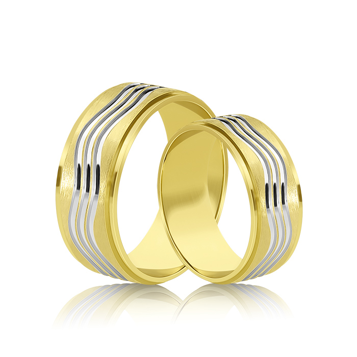 Wedding Ring Gold Fantasia 304